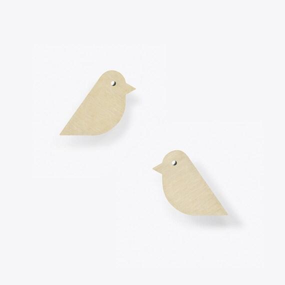 Modern Birch Stud Earrings