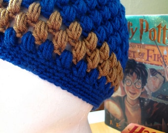 Ravenclaw House Pride Vintage Style Crocheted Hat (one size fits most)