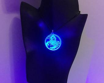 Scorpio Black Light Reactive Zodiac Pendants