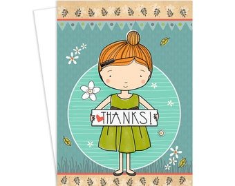 Thank You, Greeting Card, Thanks, Thank You Card, Inspirational Art, Greeting Card