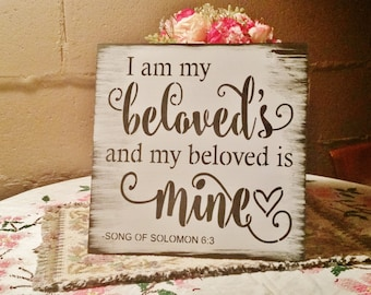 Bible verse sign wood sign wedding sign i have found the one