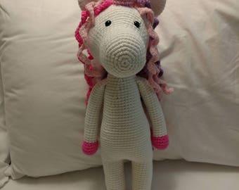 Large Crocheted Unicorn