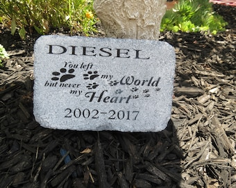 Personalized Pet Memorial Stone, Garden Stone, In Memory Of, Sympathy, Grave Marker, Pet Loss, Dog, Cat, Animals, Grief, Keepsake