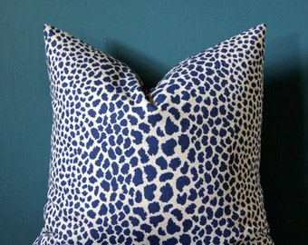 Leopard Pillow Cover - Cheetah Pillow Cover - Leopard Print Pillow - Animal Print Pillow - Blue Leopard Pillow - Animal Print Decor