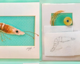 My Bead Embroidered SHRIMP!  Bead Kit and Tutorial