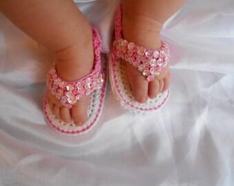 Sandals baby girl handmade crochet