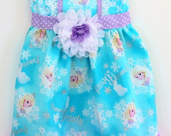 Frozen dress, Elsa dress,  disney dress, rapunzel dress, cinderella dress, belle dress,  girls dress, boutique dress, toddler dress