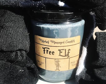 Free Elf 100% Soy Wax Candle