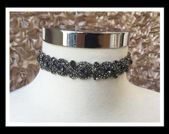 Black Diamond Rhinestone Choker #C106