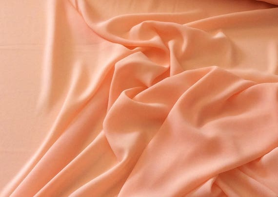 High quality Faux Silk Chiffon, very close to genuine silk chiffon. Peach No75