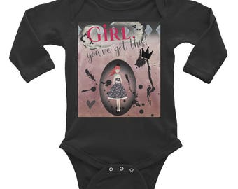 Girl You've Got This Infant Long Sleeve Bodysuit - Rabbit Skin Brand - Baby Girl - MitchellxMitchell - Infant Clothing