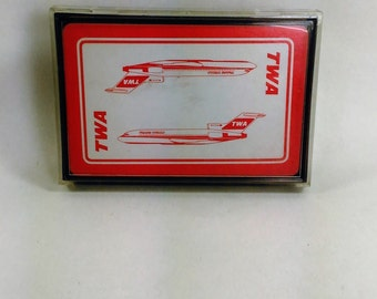 TWA Playing Cards/Used In Great Shape/in Case/USA