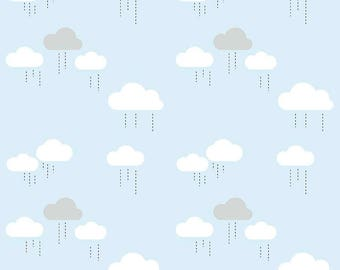 When Skies Are Grey Blue Cloud by Simple Simon and Company for Riley Blake, 1/2 yard