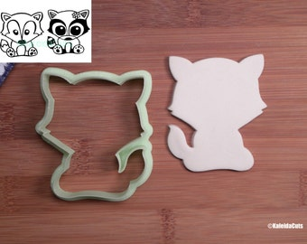 Sitting Fox Cookie Cutter. Raccoon Cookie Cutter. Cat Cookie Cutter. Woodland Baby Shower. Animal Cookie Cutter. Baby Shower Cookies.