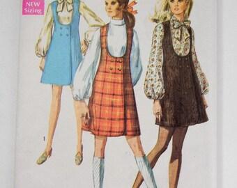 Misses jumper pattern & blouse vintage from 1960s implicity #8345 size 12  UNCUT // mod // ladies jumper // dress