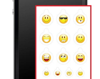 Universal Webcam Covers - Compatible With Multiple Devices (Smiley Pack)
