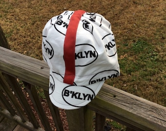 B'KLYN cycling cap,crown,lid,dome piece,cotton,custom,one of a kind, handmade, brooklyn,frumz