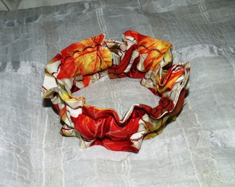 AUTUMN Leaves (Scrunchie) Dog/Cat Collar Cover Small, Medium & Large