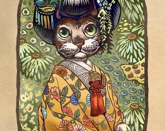 Kimono Kitty- 11 x 14 signed print