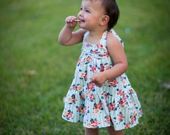INSTANT DOWNLOAD- Lily Halter Dress (Sizes 9/12 mos to Size 10) PDF Sewing Pattern and Tutorial