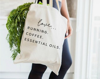 EO bag, essential oils bag, essential oils, tote bag, EOs, young living, doterra, there's an oil for that, YLEOs, essential oil gift