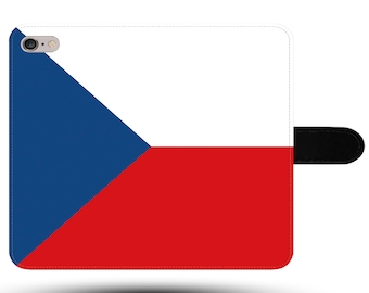 Czech Republic Flag Original Prague Europe Tourist Fabric Phone Cover with Magnetic Clasp for iPhone and Samsung Galaxy