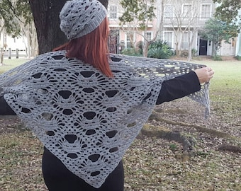 Handmade Crochet Cat Shawl