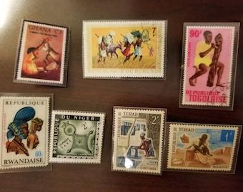 Vintage African Stamps
