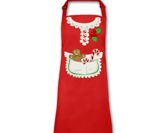 Mrs Claus Costume adult apron