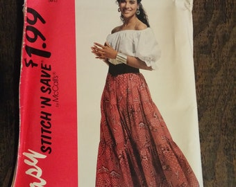 Stitch 'n Save by McCalls 6487 (M-L) blouse and skirt pattern, uncut