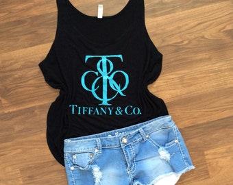 Tiffany Blue Tank // Tiffany Tee // Tiffany and Co Inspired Shirt // Tiffany Blue