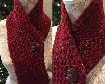 Red with Mixed Colors Scarf