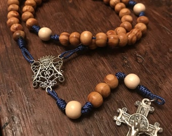 Ave Maria Rosary with St. Benedict Crucifix comes with Rosary Pouch