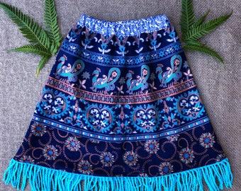 Tapestry Tassel Skirt
