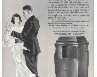 Record Player ad from 1919 (July edition of National Geographic) Victrola record player by Victor Talking Machine Co.