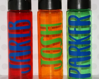 Personalized boy school water bottle, personalized boy dad sports water bottle, water bottle for boys party favor, custom father's days gift