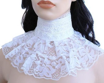 collar wedding collar lace collar white collar wedding choker vintage collar necklace white choker bridal collar bride wedding white Cw