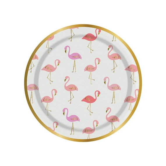 Flamingo paper plates. Set of 8. SMALL flamingo party plates. Flamingle plates. Tropical bird paper plate. Pink flamingo tableware. from thepartydialect on ...  sc 1 st  Etsy Studio & Flamingo paper plates. Set of 8. SMALL flamingo party plates ...
