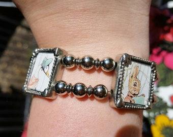 Vintage Beatrix Potter book bracelet