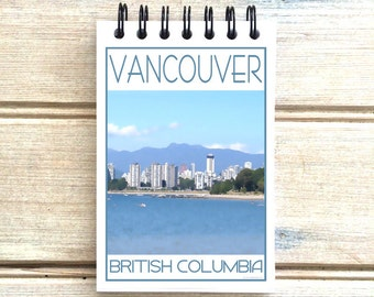 Vancouver B.C. - Love This Place - Cityscape Notebook - Canada - Notepad Custom Gift - The Jitterbug Shop