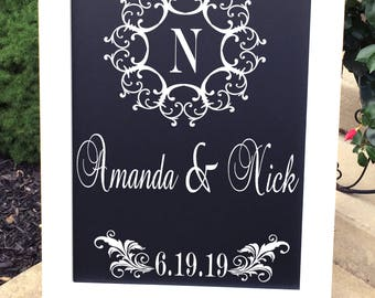 DECAL, Wedding Decal, Wedding Welcome Decal, Welcome to Our Wedding Decal, Wedding Monogram Decal, Dance Floor Decal,  DECAL ONLY