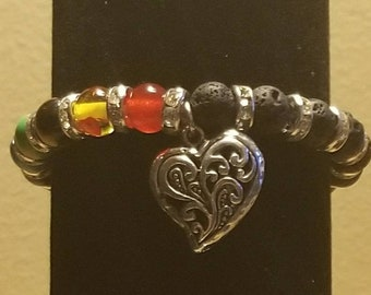 Chakra Heart Diffuser Bracelet