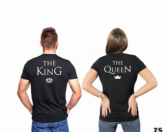 gift for him, gift for her, anniversary gift, couple tshirt, king queen tshirt, couples gift, couple gifts, gift for couple