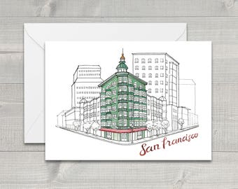 North Beach San Francisco Greeting Card