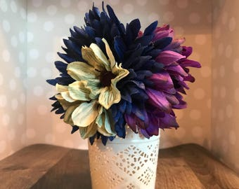 Flower Bouquet hair comb