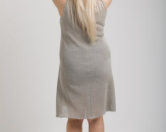 Knitted linen light summer dress