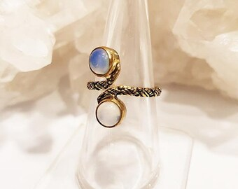 Ring Gemstones Gold Brass