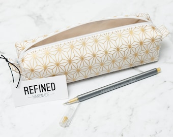 Metallic Gold Pencil Case - pencilcase - pencil pouch - pen case - pen pouch - zipper pouch - school supplies