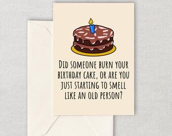 Funny Printable Birthday Card - Birthday Gift Card - Sarcasm Printable Card - Instant Download - Funny Friend Birthday Card