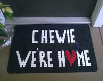 Fallen Hero Chewie We're Home Welcome Mat